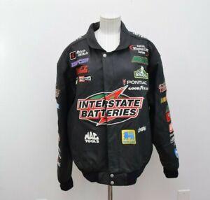 NASCAR Interstate Batteries Racing Jeff Hamilton Leather Jacket Large Black