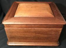 "Antique Rare Emperess Mira Swiss Music Box 9 1/4"" Metal Disk Record Player"