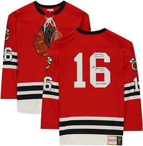 Bobby Hull Chicago Blackhawks Signed Red M&N Jersey with Multiple Inscs