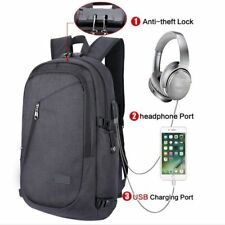 Laptop Bag Backpack Rucksack Outdoor Travel Pack With USB Port Password Lock UK