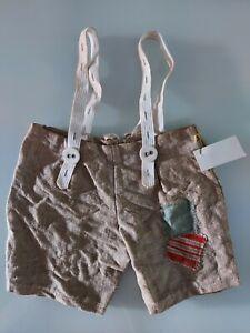 Wow: Shabby - Carrier Pants From Linen, For Approx. 30-35 CM Bears Handarbeit