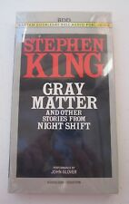 STEPHEN KING GRAY MATTER AND OTHER STORIES FROM NIGHT SHIFT AUDIO CASSETTES 1993