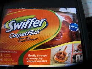 Swiffer Carpet Flick Starter Kit - 1 Sweeper 4 Cartridges - Brand New. Condition