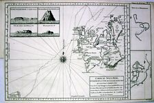 Antique map, Carte du Spits-Berg