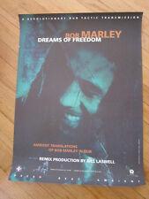 Bob Marley Dreams of Freedom promo poster 18x24