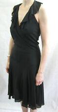 Alannah Hill Size 10 Black Silk Formal Dress
