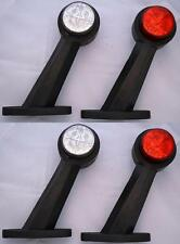 4x Red weiß Seitenblinker LED-Licht 24V Anhänger LKW für Mercedes DAF VOLVO