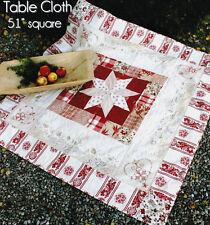 PATTERN - Scandinavian Christmas Hearts - stitchery & pieced topper PATTERN