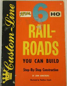 1958 Vintage Custom Line Book: 6 Atlas HO Railroads you can build