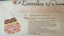 Dena Designs DF69 Leanika Canvas Tote Bag Project Panel Pink Fabric By Yard