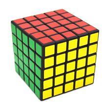 5x5 Rubik's Magic Cube Ultra Smooth Speed Puzzle Twist Rubix Kids Gift Black NEW