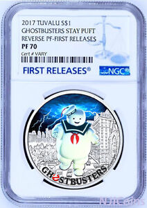 2017 Ghostbusters Stay Puft 1oz Silver $1 Coin NGC REVERSE PF70 FIRST Releases