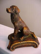 """Metal Brass DOG Bookend SHELF DESK SITTER Labrador Retriever Best Friend 7.5""""T"""