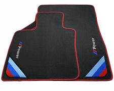 Floor Mats For BMW M3 Series F80 Black Red Rounds With /// Power Emblem LHD NEW
