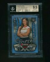 2018 Topps WWE Slam Attax Live Silver Limited Ronda Rousey RC Rookie BGS 9.5
