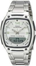 Casio Men's Ana-Digi Databank 10-Year Battery Stainless Steel Watch AW81D-7AV