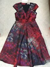 Per Una M&S ladies red silver black Christmas party dress size 6- 8-10 BNWT