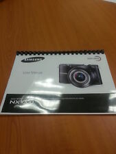 Samsung Nx1000 20.3 Mp Nx Smart Cámara Digital Manual de instrucciones impreso A5