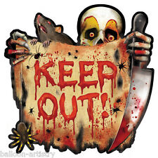 2 Halloween CREEPY CARNIVAL Circus Party KEEP OUT Signs Cutouts Decorations