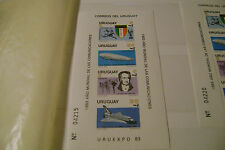 Uruguay=Scott # 1147a-Zeppelin-Souvenir Sheets(Perforated & Imperforated)