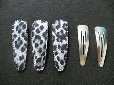 20 set Big animal printed hair clip cover and Big silver tone hair snap clip