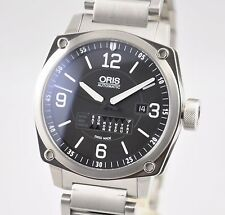 NEW Oris BC4 Retrograde Day Black Stainless Steel Automatic 735 7617 4164 B&P