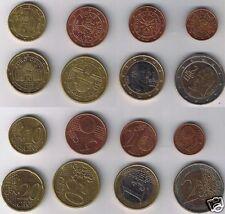 manueduc   AUSTRIA  2002  Serie las 8 monedas  Nuevas