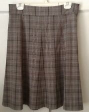Covington Stretch Women's Lined Plaid A-Line Skirt, Size 10