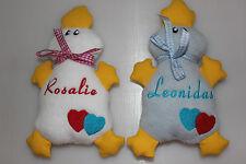 Kissen mit Namen,Entenkissen,Wunschname,Taufe Geburt,Geschenk