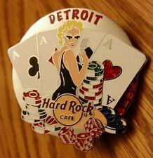 2014 Hard Rock Cafe Detroit Casino Girl Pin (New)
