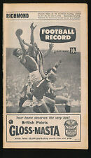 1968 VFL Football Record Richmond v St Kilda July 27  Tigers Saints