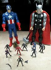 Marvel Thor Captain America 12 in Figurines eight 3 in Figurines Super Heroes
