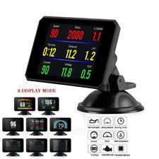 HUD Head Up Display Speedometer Alarm Oil Water Temp Gauge Monitor Car SUV OBD2
