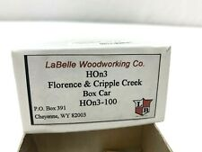 La Belle HOn3 Florence & Cripple Creek Wood Box Car Kit Brass Trucks Westside HO