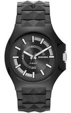 NWT Auth Diesel DZ1646 Stud Black Pyramid Stud Strap Watch ACTUAL PICS PROVIDED