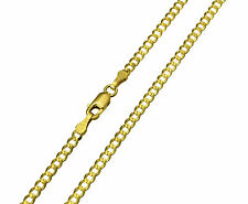 "14K Solid Yellow Gold Curb Cuban Chain Necklace 2.7 mm 20""  ( 1/8"" width )"
