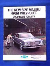 1978 Chevrolet Malibu Sales Brochure