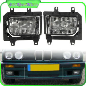 Front Bumper Clear Plastic Fog Lights Fit For BMW E30 318i 318is 325i 85-93 Sale