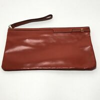 Vintage 70's Gaetano New York Red Leather Purse Wristlet Clutch Sophisticated