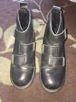 Harley Davidson Womens Size 7 M Leather Ankle Boots Biker Motorcycle Gently Worn