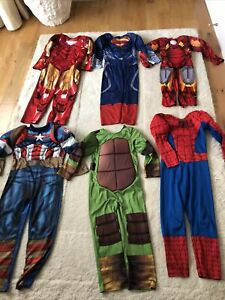 Boys Age 5-6 - 7-8 Years Marvel  Iron Man Spider-Man Fancy Dress Outfit