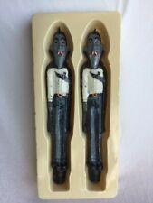 """New vintage Robert Alan Halloween 10"""" sculptured Vampire taper candles"""