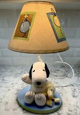 Snoopy Lamp Lambs & Ivy Baby Nursery Lamp With Woodstock Very Cute!!