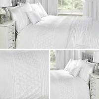 White Duvet Covers Embroidered Floral Lace Vintage Quilt Cover Bedding Sets