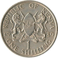 Kenya, 1 Shillings, 1989, VF Copper-nickel, #WT3379