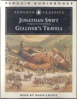Jonathan Swift Gulliver's Travels 4 Cassette Audio Book Abridged Hugh Laurie