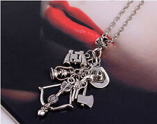 Fashion The Walking Dead Personality Charm Long Chain Pendant Necklace Gift