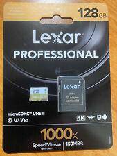 Lexar® Professional 1000x micro SD ™/microSDXC™ UHS-II Cards 128GB