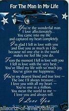 For The Man In My Life Keepsake Wallet Card Husband Boyfriend Love Gift Him Mens
