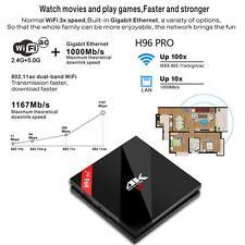 H96PRO+ 4K Smart Android 7.1 TV Box Amlogic S912 Octa core WiFi BT4.1 1000M D4O6